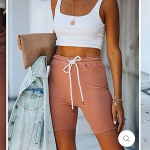 Vici Slack Cotton Sweat Shorts